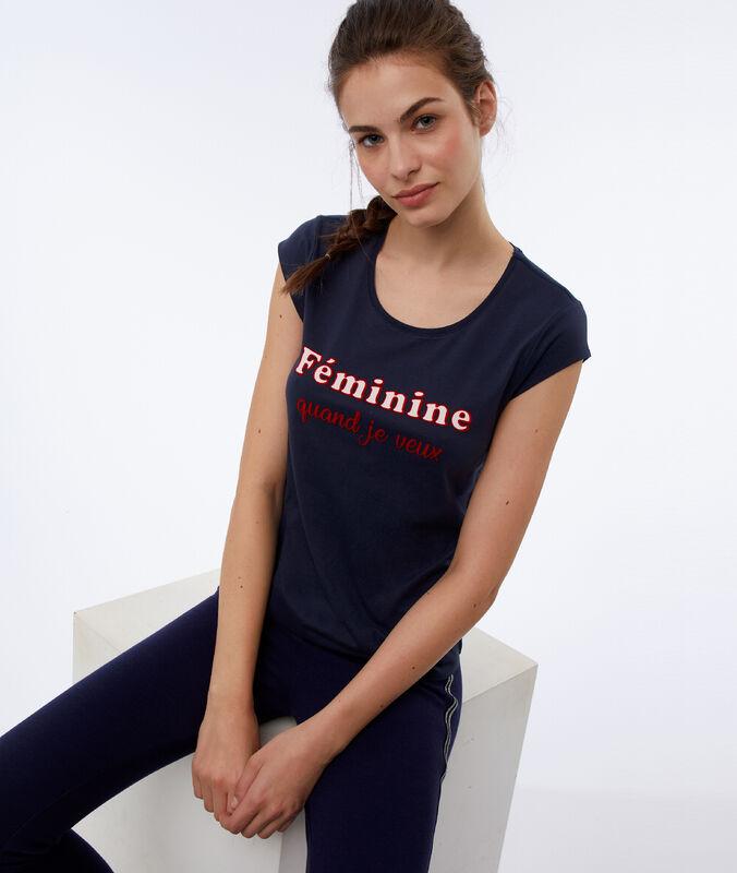 T-shirt  z napisem marine.