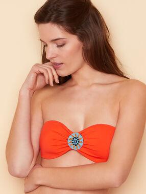 Góra od kostiumu opaska z motywem azteckim orange.