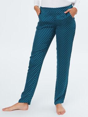 Spodnie w groszki bleu.