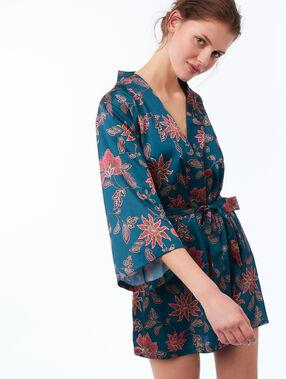 Wzorzyste kimono  bleu vert.