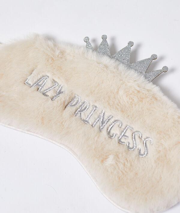 Opaska na oczy na noc 'lazy princess' obszyta futerkiem