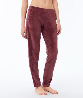 Spodnie z weluru bordeaux.