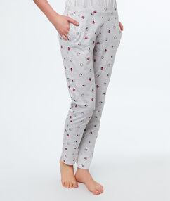 Wzorzyste spodnie gris.