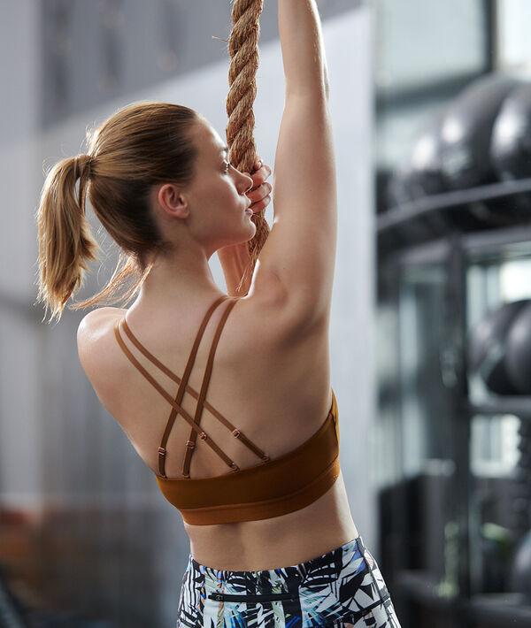 Biustonosz sportowy z ramiączkami skrzyżowanymi na plecach - lekkie podtrzymanie;${refinementColor}