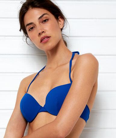 Góra od kostiumu kąpielowego push-up bleu royal.