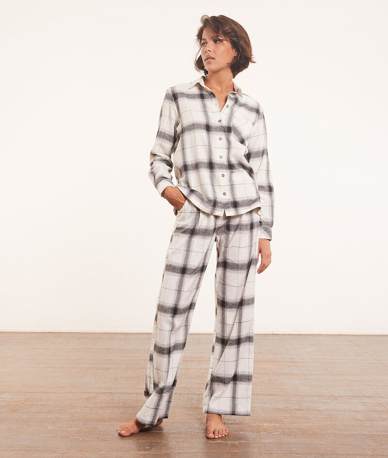 Koszula od piżamy w kratę;${refinementColor}