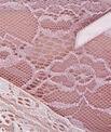 Dwukolorowe majtki z koronki florystycznej