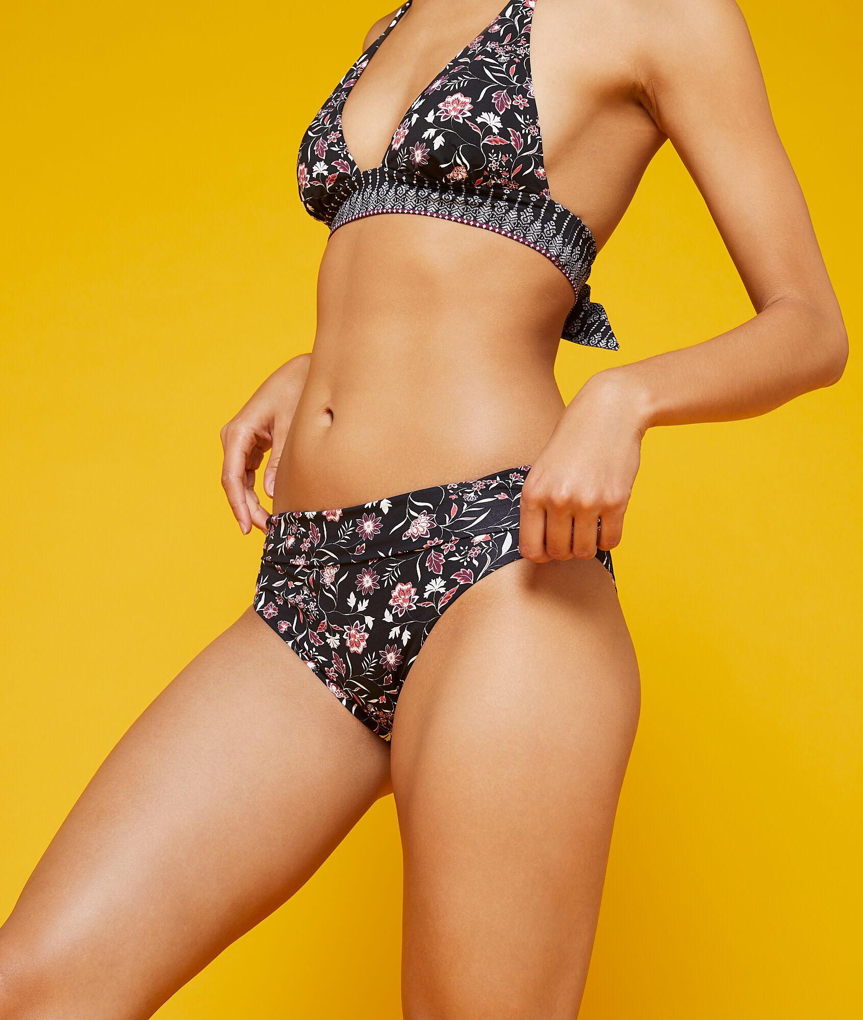 KILLIAN Dół bikini z wielopozycyjnym stanem, deseń w kwiaty