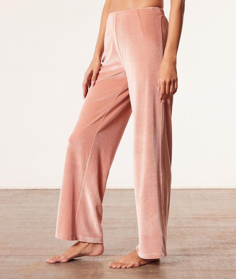Spodnie od piżamy z weluru;${refinementColor}