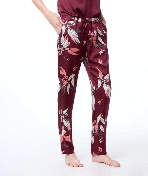 Wzorzyste spodnie z satyny