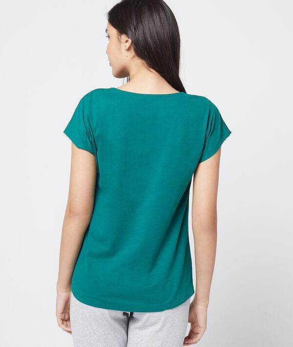 T-shirt z bawełny organicznej z nadrukiem
