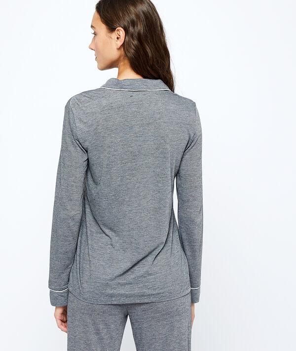 Koszula od piżamy w jednolitym kolorze