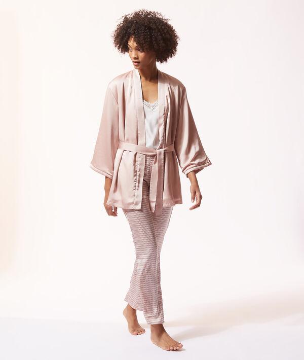 Satynowa piżama trzyczęściowa z nadrukiem;${refinementColor}