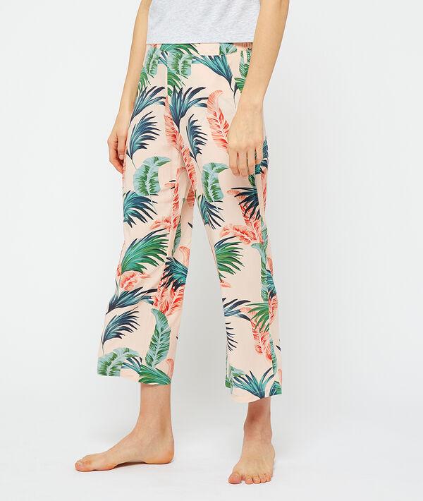 Spodnie od piżamy z wiskozy Ecovero, rozszerzane nogawki;${refinementColor}