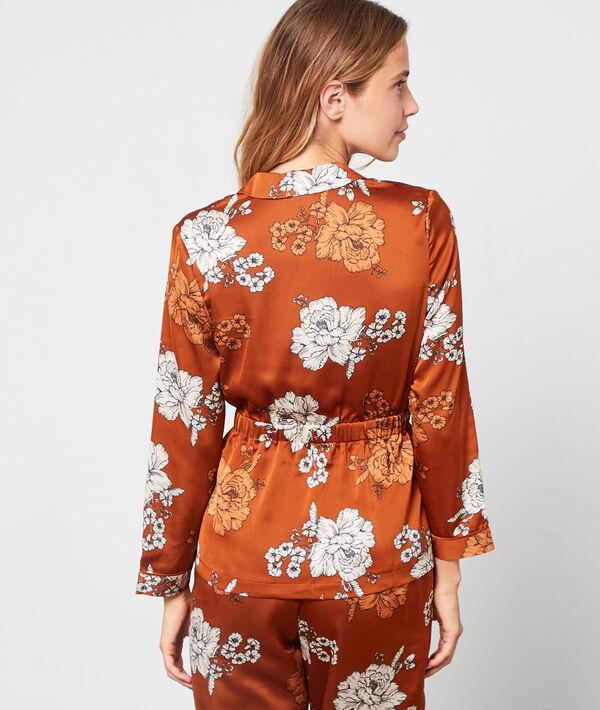 Koszula od piżamy w kwiaty