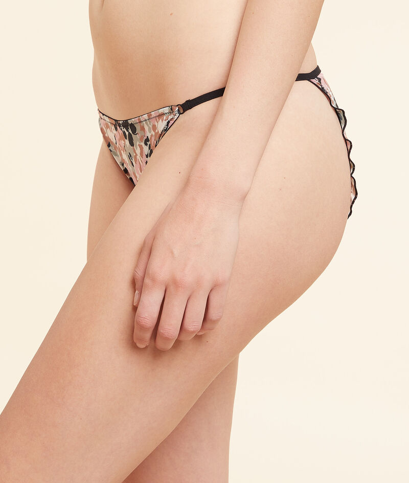 Wzorzyste majtki bikini;${refinementColor}