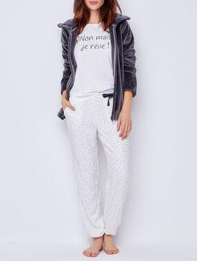 Piżama trzyczęściowa, bluza przytulanka  szary.