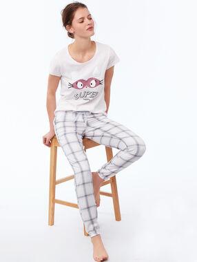 T-shirt z nadrukiem i napisem rose pâle.