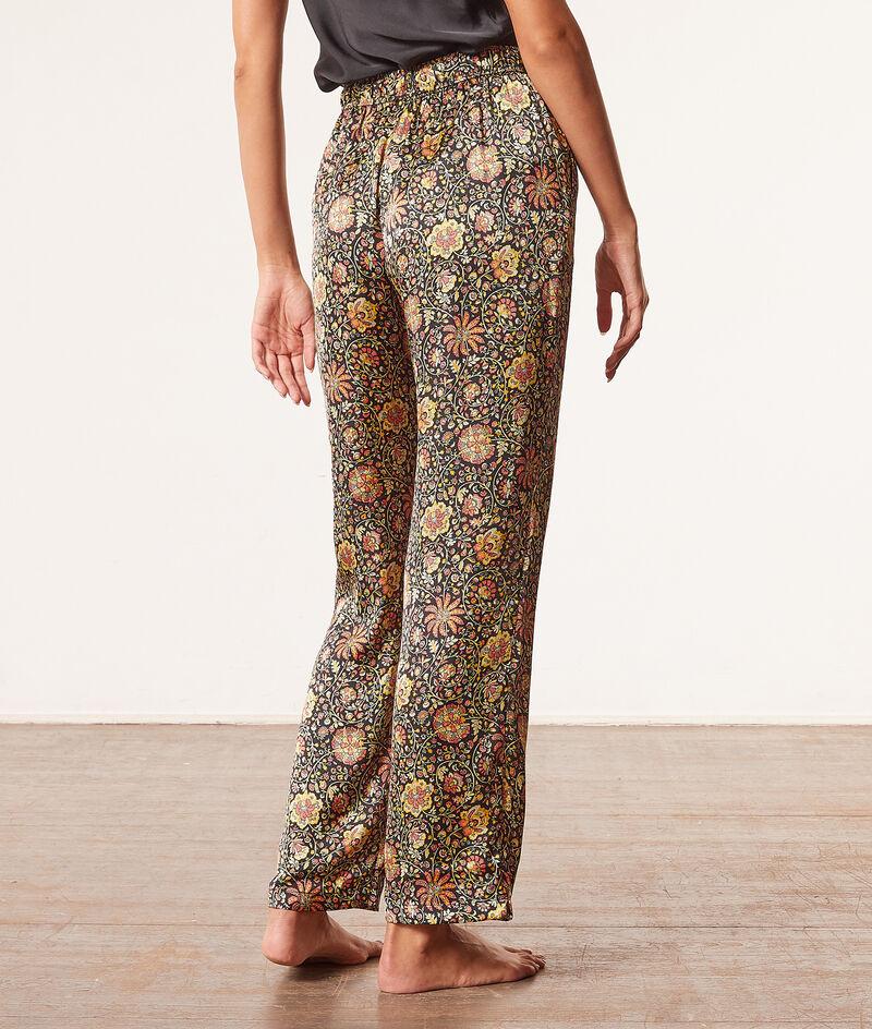 Satynowe spodnie od piżamy z wysokim stanem;${refinementColor}
