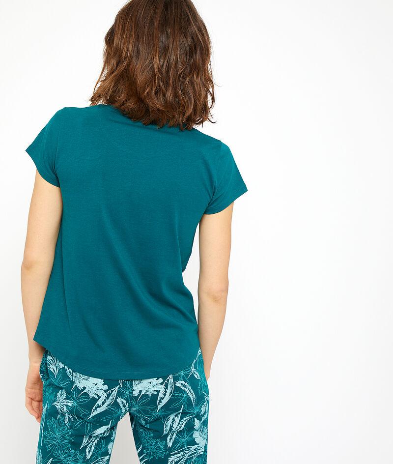T-shirt z organicznej bawełny z nadrukiem papugi;${refinementColor}