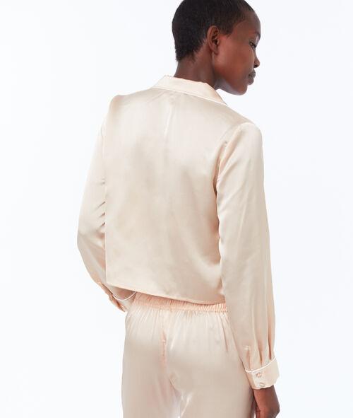 Krótka wiązana męska koszula od piżamy