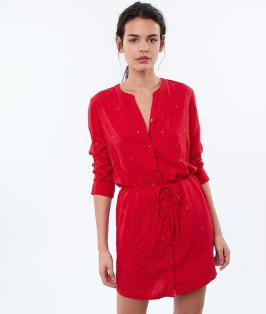 Koszulka nocna wiązana w talii rouge.