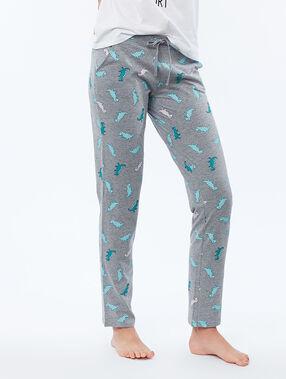 Spodnie w dinozaury gris.