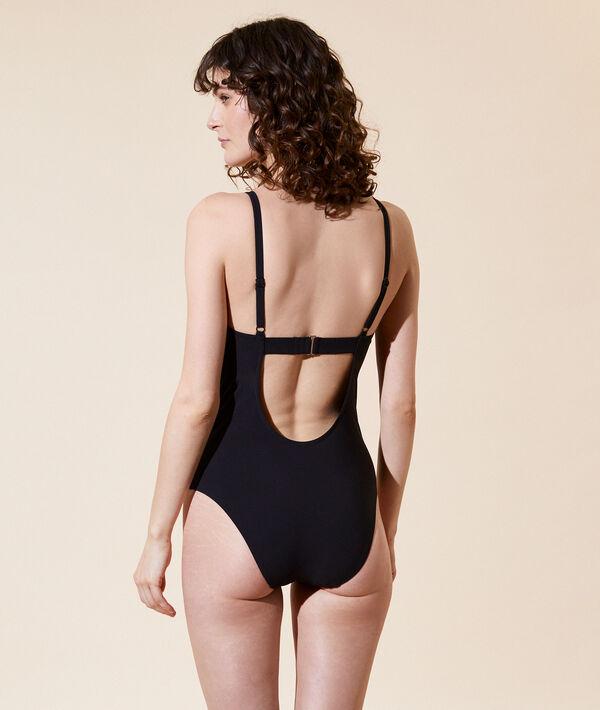 Jednoczęściowy kostium kąpielowy  z fiszbinami bez poduszeczek;${refinementColor}