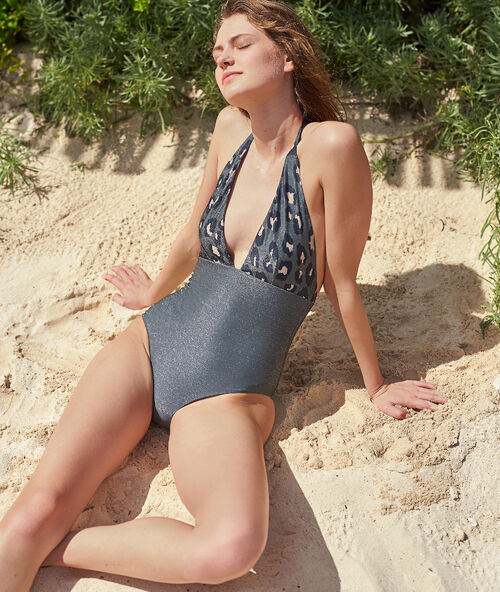 f4e7217364bdf1 Jednoczęściowy kostium kąpielowy, deseń w cętki leoparda
