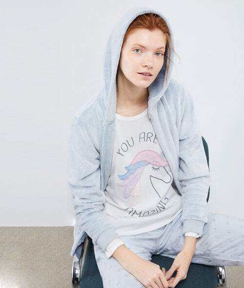 Piżama trzyczęściowa z motywem jednorożca