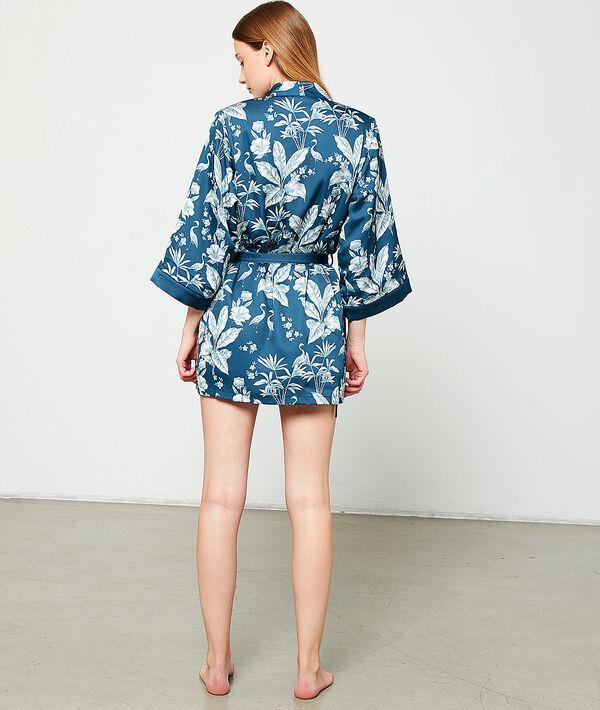 Satynowe kimono z nadrukiem