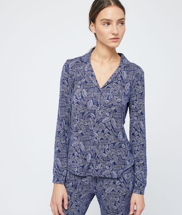 Koszula od piżamy z nadrukiem liści;${refinementColor}