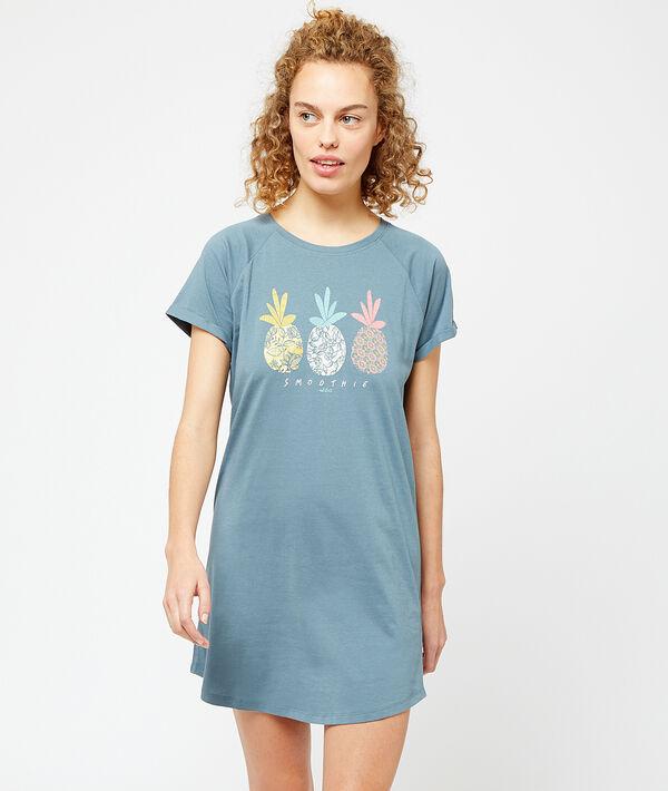 Koszula nocna z nadrukiem ananasów;${refinementColor}