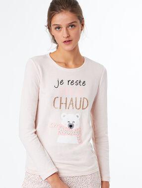 Wzorzysty t-shirt  rose.