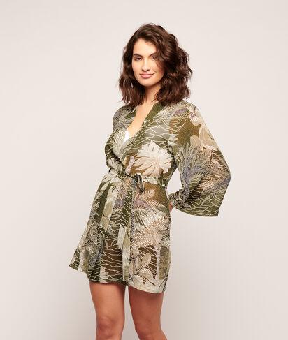 Kimono z nadrukiem liści;${refinementColor}