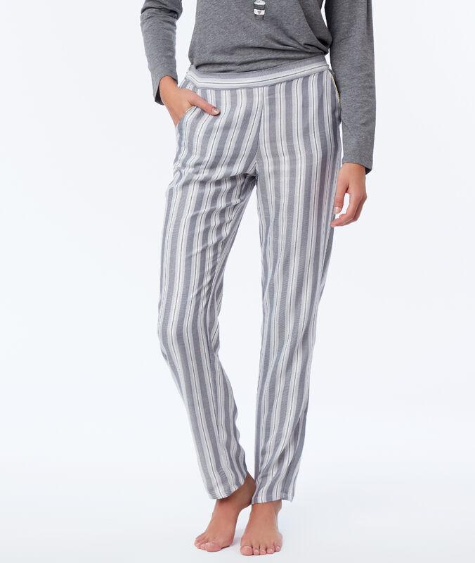Spodnie od piżamy w paski gris.
