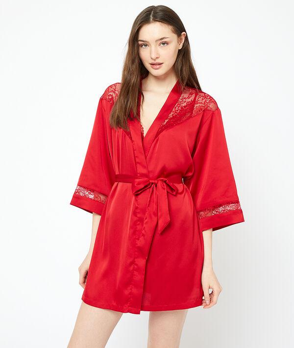 Kimono ozdobione koronką;${refinementColor}