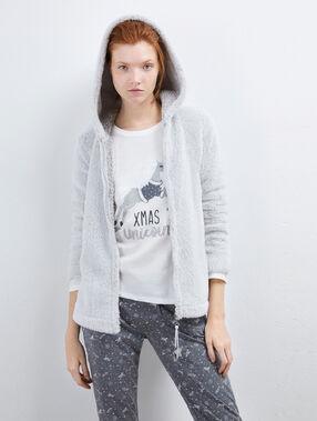 Piżama trzyczęściowa z suwakiem ozdobionym gwiazdkami gris clair.