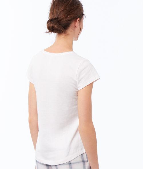 T-shirt z nadrukiem i napisem