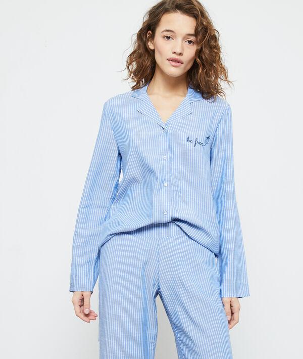 Koszula od piżamy z napisem 'be free';${refinementColor}
