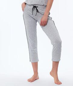 Spodnie 3/4 w groszki gris.