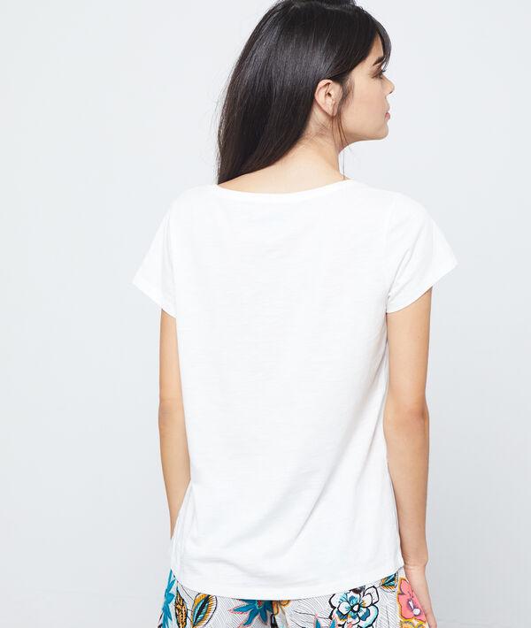 T-shirt z bawełny z nadrukiem żyrafy