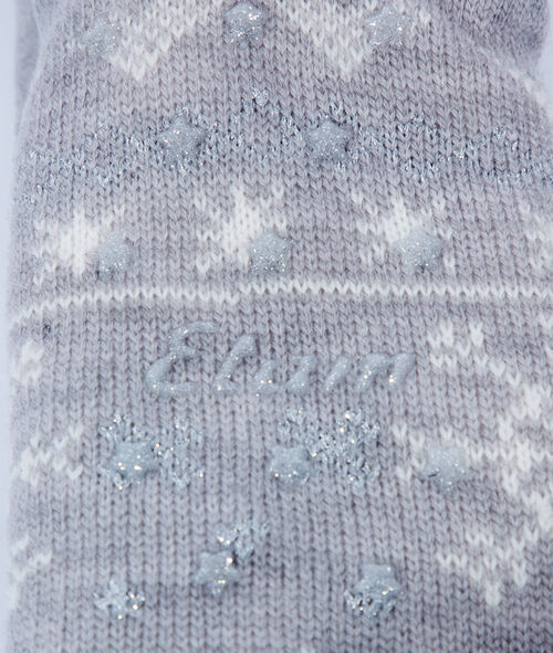 Wzorzyste wiązane skarpetki homewear