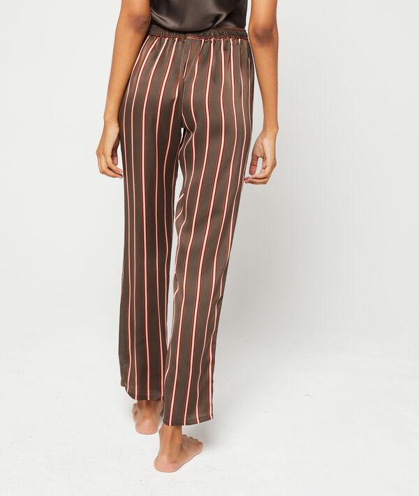 Satynowe spodnie w paski