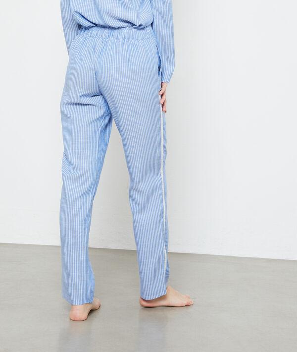 Spodnie w paski z lampasami;${refinementColor}