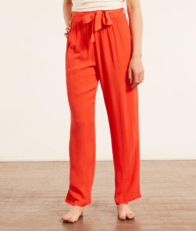 Wiązane spodnie od piżamy;${refinementColor}
