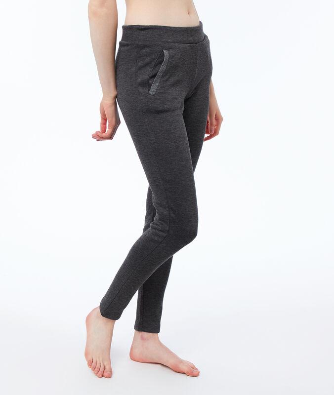 Mięciutkie spodnie homewear dwuwarstwowe gris.