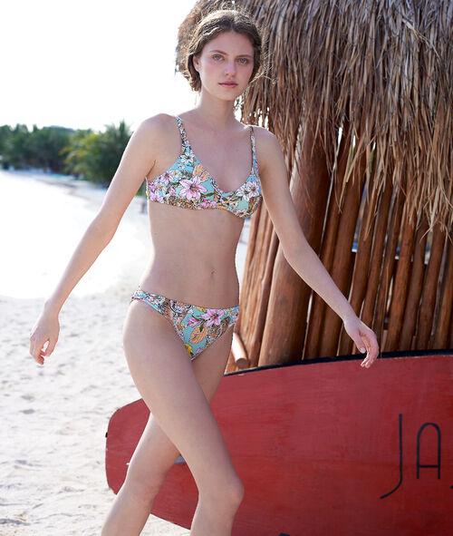 Klasyczny dół bikini, deseń w tygysy