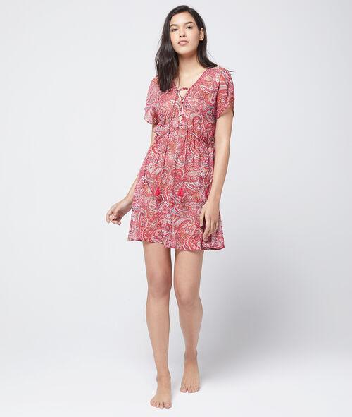 81732f6f73b57a Wzorzysta sukienka koszulka nocna - PATCHOULI - ROUGE - Etam