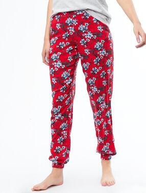 Wzorzyste lejące spodnie rouge.